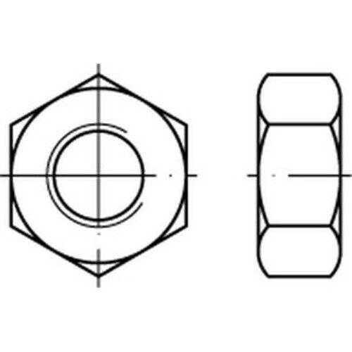 100 x  Sechskantmutternmit metrischem Feingewinde DIN 934 A 2 M 8 x 1 A 2