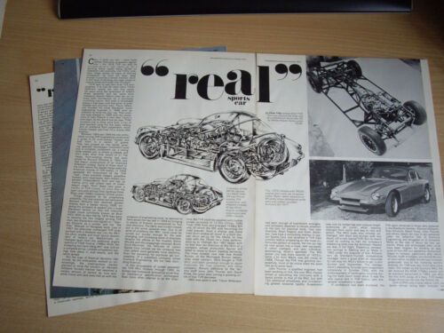 TVR CARS ORIGINAL MAGAZINE ARTICLES 13 TO CHOOSE FROM