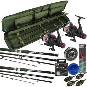 travel fishing rod and reel set 9ft rods reels bag holdall floats hooks feeders ebay. Black Bedroom Furniture Sets. Home Design Ideas