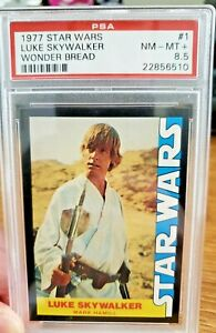 1977 Star Wars #1 Luke Skywalker PSA 8.5 Wonder Bread *Low Pop High Grade* Rare