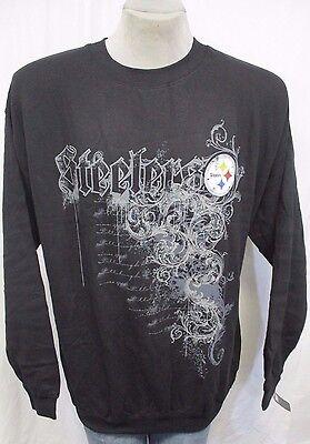 af4159cd Pittsburgh Steelers Men 2XL, 3XL Pullover Crew Neck Sweatshirt NFL Black  A14 | eBay