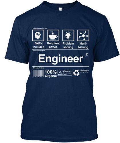 Personnalisé Ingénieur! compétences inclus nécessite Café Standard Unisexe T-Shirt