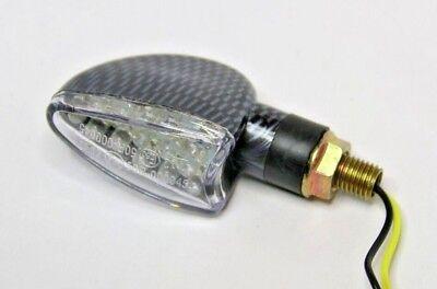 4x Carbon LED Signal Light Indicators 4 Triumph Speed Street Triple