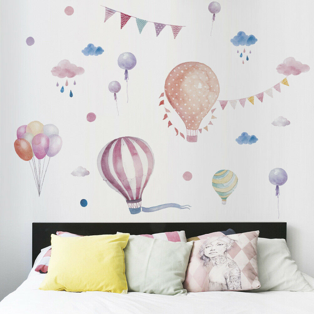 Hot Air Balloon DIY Wall Stickers Nursery Kids Room Removable Mural Decal Decor