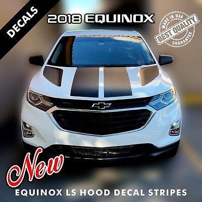2 Chevrolet Equinox LS 4 Hood Decal Stripes Pre Cut Fits 2018 Models