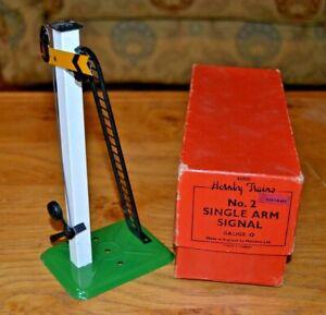 Vintage Boxed Hornby Trains O Gauge No 2 Single Arm Signal De Bons Compagnons Pour Les Enfants Comme Pour Les Adultes