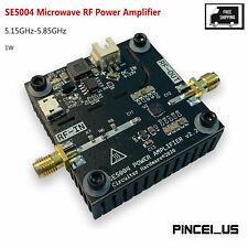 Se5004 1w Microwave Rf Power Amplifier 515ghz 585ghz Input 6 23v Dc 30dbm Out