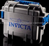 Brand Invicta Three Slot Impact Diver's Case/box Blue/gray