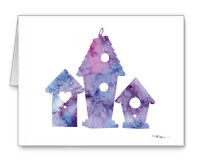 Birdhouses Note Cards With Envelopes