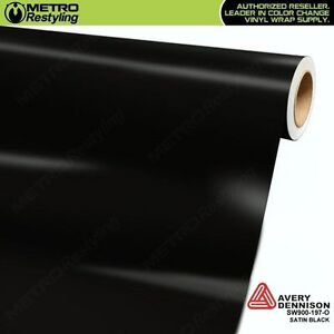 photo about Avery Printable Vinyl called Facts pertaining to Avery SW900-197-O SATIN BLACK Vinyl Car or truck Auto Wrap Decal Movie Sheet Roll
