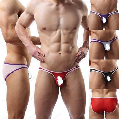 Brand Men's Mesh Sheer Mini Briefs Underwear Sexy Bikini Underpants M L XL J4