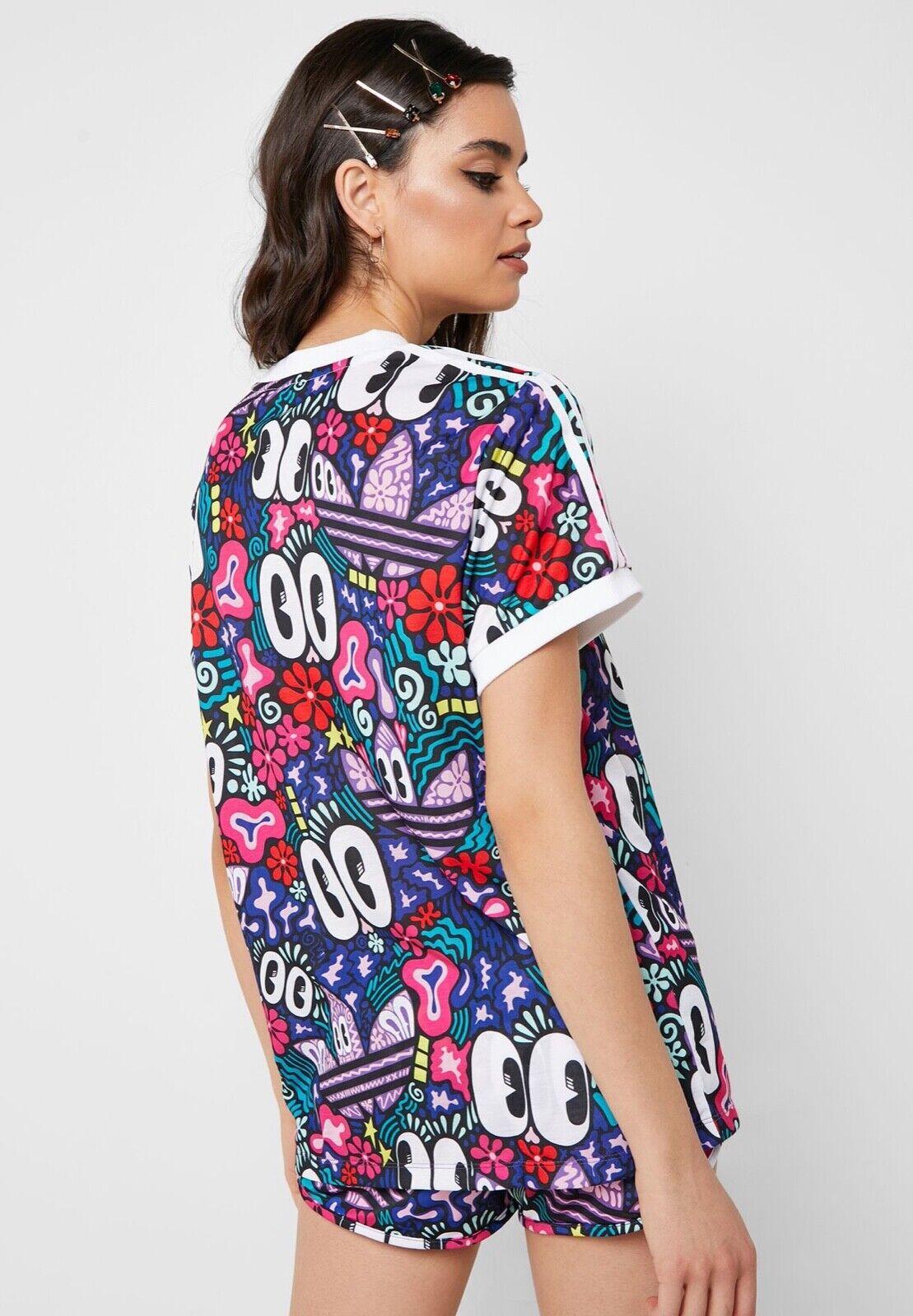 Adidas Woherren T-shirt DV2656 Hattie Stewart Summer Eyes 3-Stripes Tee 2019 Farm