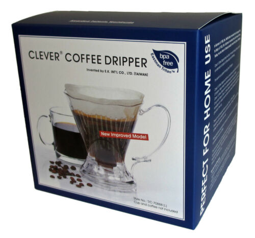 FREE SHIPPING!!! 3 Colors w//100 Filters OPEN BOX Clever Coffee Dripper