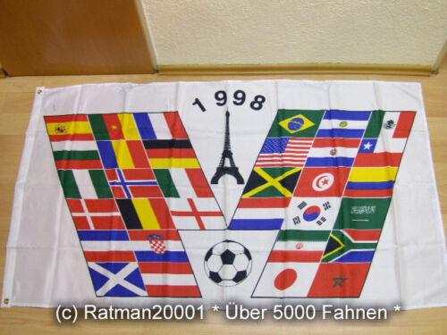 Fahnen Flagge Fussball WM 1998 zur Erinnerung 90 x 150 cm