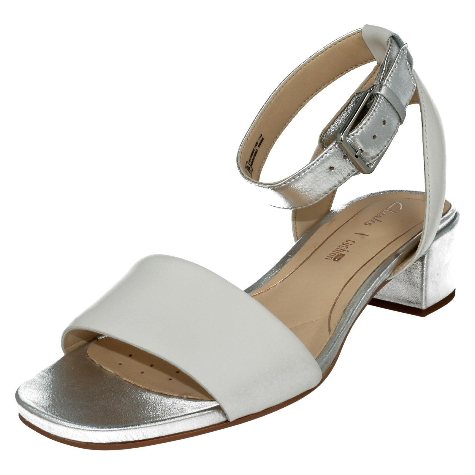 LADIES CLARKS CLARKS CLARKS LEATHER CUSHION PLUS LOW HEEL BUCKLE SANDALS SHOES ORABELLA pink 53bde8