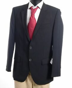 HUGO BOSS Red Sakko Jacket Aamon Gr.98 schwarz uni Einreiher 2-Knopf -S816