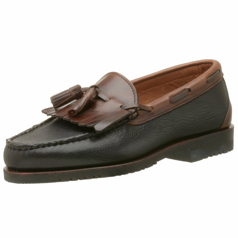Allen Edmonds Nashua Slip-On Tassel Loafer, Black Brown, Size 11.5C, New in Box
