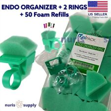 Dental Endodontic Foam Endo Organizer 2 Rings 50 Foam Refills One Fingerhold
