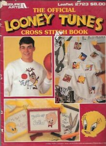 Official-Looney-Tunes-Cross-Stitch-Book-Leisure-Arts-2723-Bugs-Taz-Daffy-Tweety