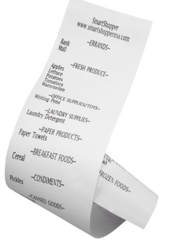 SmartShopper 3 Pack Thermal Paper Roll Refill Free Shipping