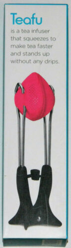 Dreamfarm Teafu PINK Silicone Loose Leaf Tea Infuser Steeper Strainer Press NEW