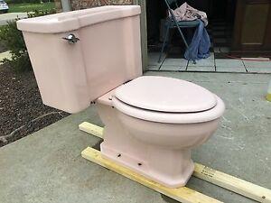 VINTAGE 1961 Kohler Toilet VENETIAN PINK Complete With