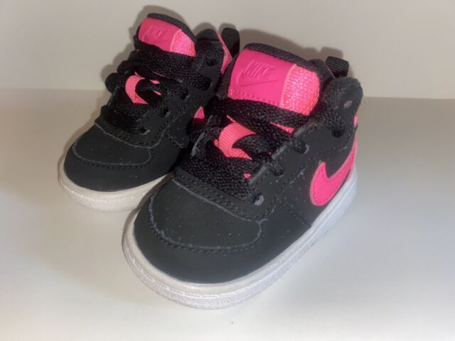 BABY GIRLS Nike Tennis Shoes Black & Pink Size 2C Style ...