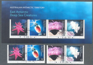 Australie Territoire Antarctique Deep Sea Creatures Set & M/s Fine Used Cto-afficher Le Titre D'origine