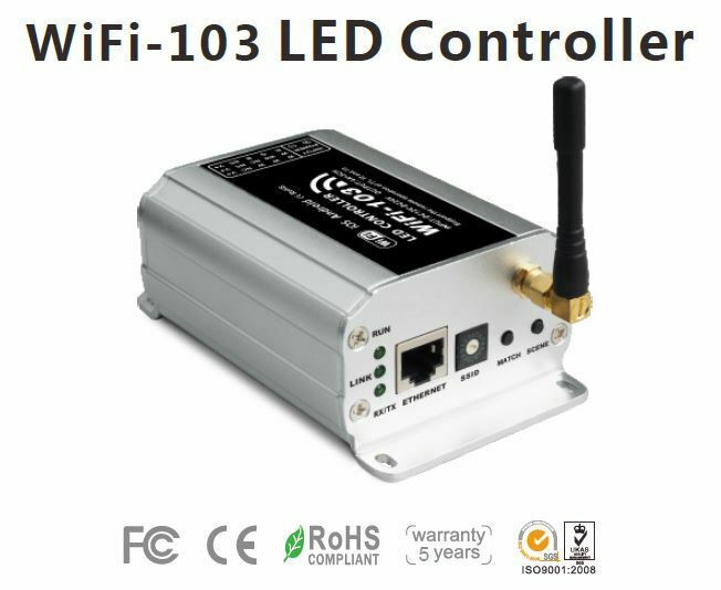 LED RGB Controller WiFi 103 3x4A, IP20 iOS Android LxBxH 128x73x45mm