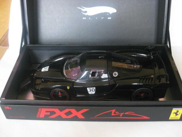 Mattel-SUPER ELITE FERRARI FXX noir Nr 30 M. Schumacher L.E 1 18 Nouveau dans neuf dans sa boîte