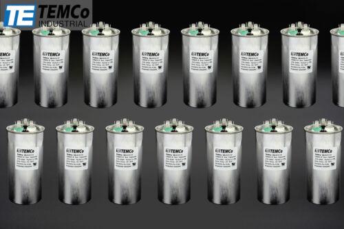 TEMCo 70//5 MFD uF Dual Run Capacitor 370 440 vac Volts 50 LOT AC Motor HVAC 70+5