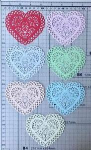 Beautiful-Lace-Heart-Doily-Cut-Out-1-pack-of-6pcs