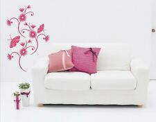 Cornflowers with Butterflies - Highest Quality Wall Decal Sticker