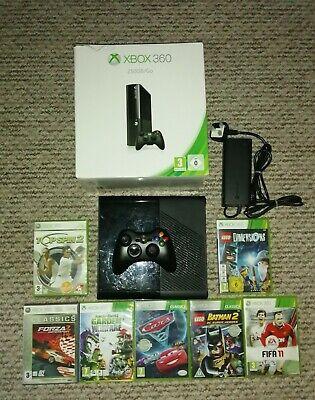 Boxed Microsoft Xbox 360 250GB E Go Black Console Slim & 6 ...