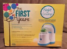 The First Years Night Cravings Baby Bottle Warmer & Cooler - Blue / White EUC