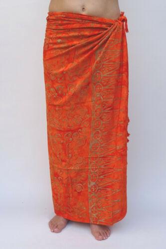 SA380or P Sarong Premium Qualität Pareo Tuch Wickelrock Wandbehang Sari Lungi