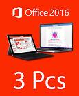 3PCs Licencia Office 2016 STANDARD - Español - Spanish Only - 3PCs