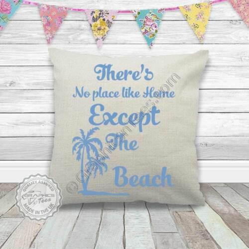 Summer Surf Beach citation sur la qualité de Lin Texturé Crème Housse de coussin Palm Trees