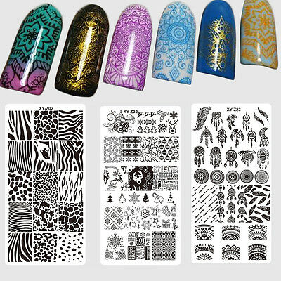 DIY Nail Stamping Plates Flower Printed Dream-Catcher Pattern Polish Template