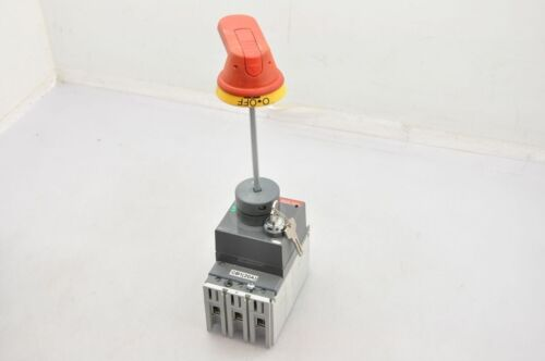 """ABB T1N Tmax 20A Circuit Breaker With Handle And Key Lock 10 1//4/"""" Shaft Height"""