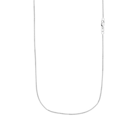 "10K Solid or Blanc ID Bracelet chaîne Collier 16/"" 18/"" 24/"" 1 mm 20/"""
