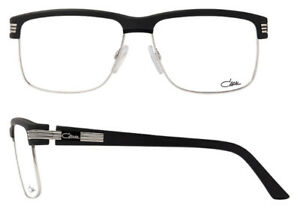979d1441df4 Cazal 7055 Eyeglasses Frames Color 002 Matt Black Silver Authentic ...