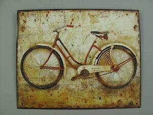 9977656-x Retro Vintage Tin Sign Bicycle 20x25cm