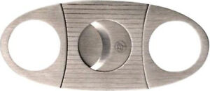 Cigar Cutter Metal Chrome Satined/Double Blade 22 MM / Ring Dimension 55/Case