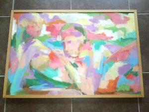 Art Piece Cube Multi Color Painting