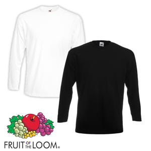 Fruit-Of-The-Loom-MEN-039-S-LONG-SLEEVE-T-SHIRT-SLEEVES-PREMIUM-COTTON-PLAIN-TOP-NEW