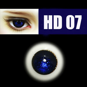 Round Blue Nice 10mm Glass Eyes for DOD DZ AOD Volks Luts BJD Doll