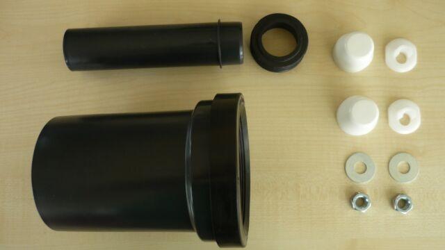 Geberit Anschlußgarnitur DN 90 mm länge 180 mm für Wand WC Duofix UP-Spülkasten