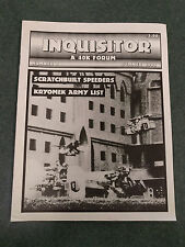 Inquisitor 9    A 40k Forum  Summer 1993      Games Workshop