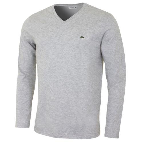 Nouveau homme Lacoste manches longues coupe régulière pima jersey Crewneck T-shirt $59.50
